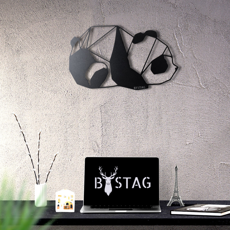 Bystag metal dekoratif duvar aksesuarı panda- Bystag metal wall art-wall art-wall decor-metal wall decor-panda