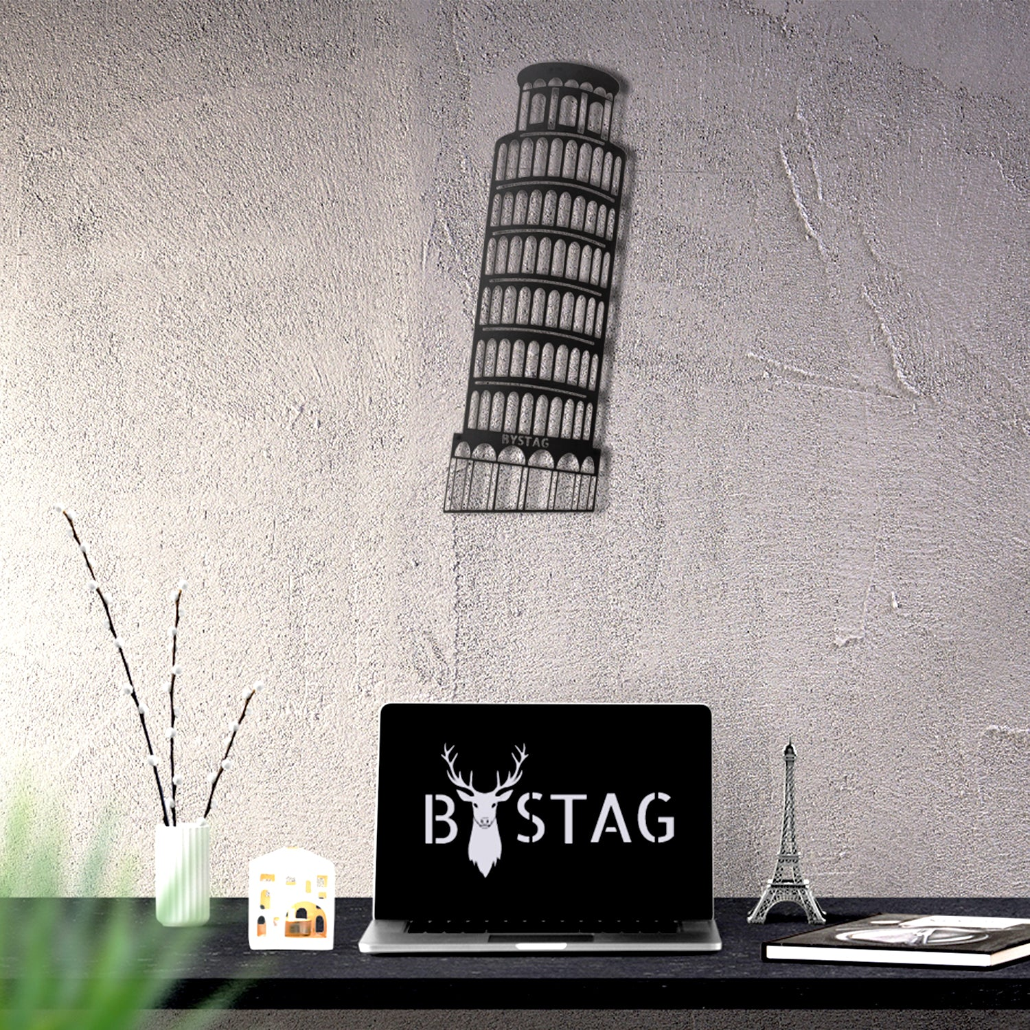 Bystag metal dekoratif duvar aksesuarı pisa- Bystag metal wall art-wall art-wall decor-metal wall decor-pisa