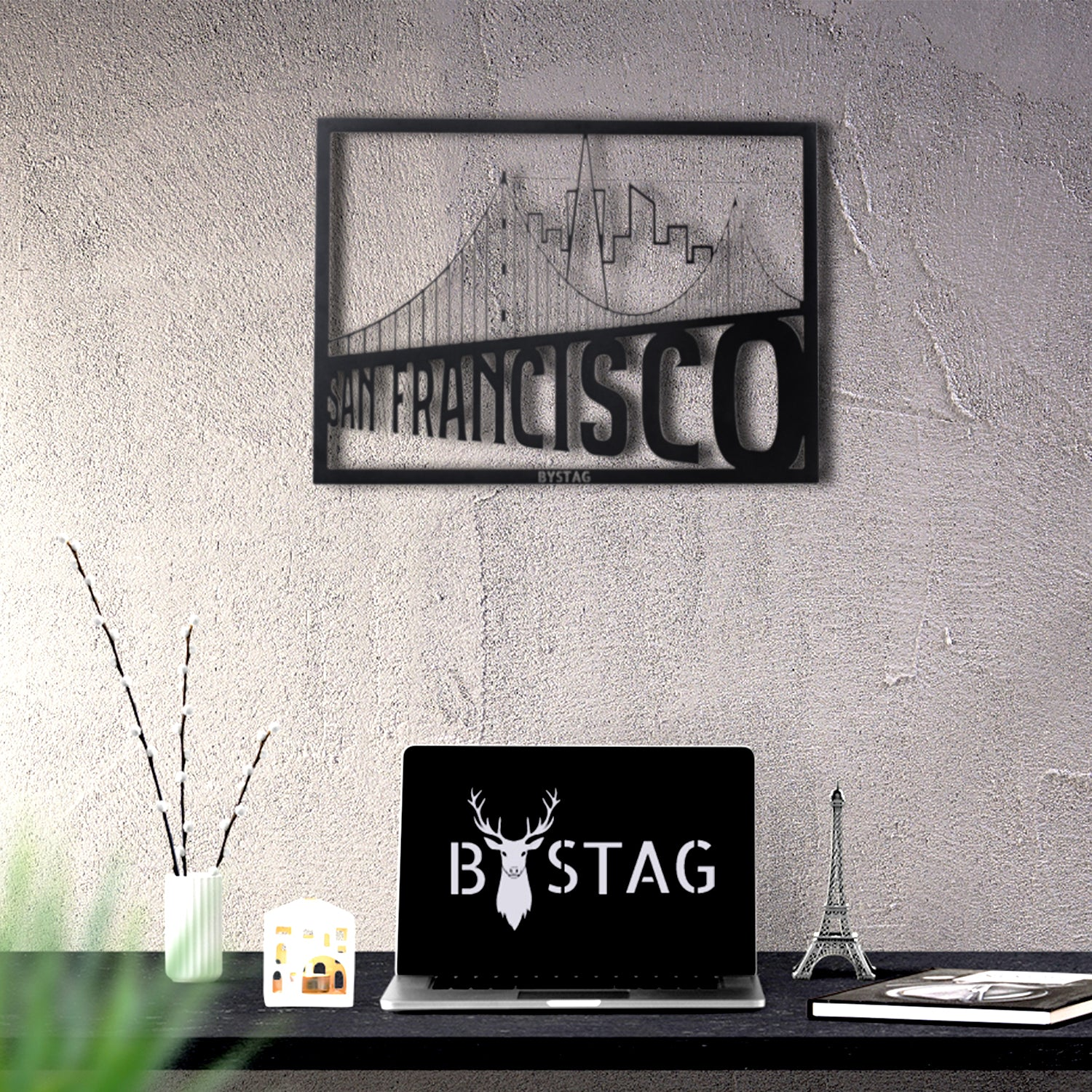 Bystag metal dekoratif duvar aksesuarı san francisco- Bystag metal wall art-wall art-wall decor-metal wall decor-san francisco