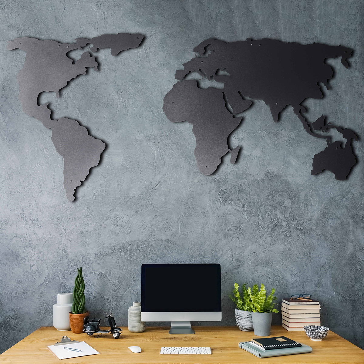 world map wall art decor for home or office