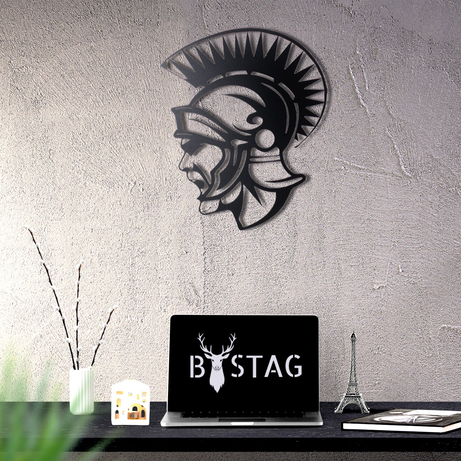 Bystag metal dekoratif duvar aksesuarı soldier- Bystag metal wall art-wall art-wall decor-metal wall decor-soldier-warrior