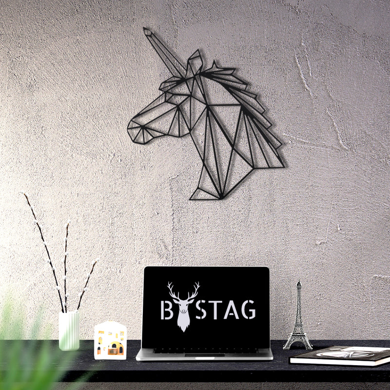 Bystag metal dekoratif duvar aksesuarı unicorn- Bystag metal wall art-wall art-wall decor-metal wall decor-unicorn
