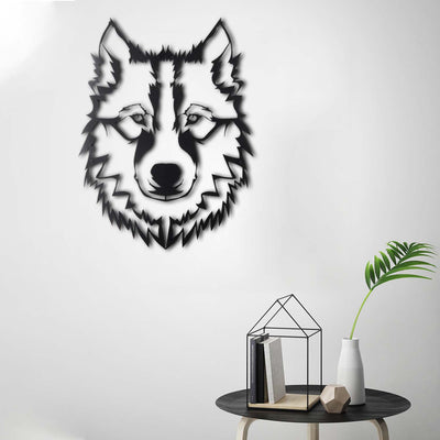 Bystag metal dekoratif duvar aksesuarı kurt- Bystag metal wall art-wall art-wall decor-metal wall decor-wolf
