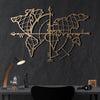 Bystag metal dekoratif duvar aksesuarı dünya haritası- Bystag metal wall art-wall art-wall decor-metal wall decor-world map-metal world map-gold world map compass