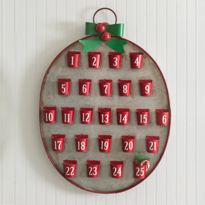 Christmas Metal Advent Calendar