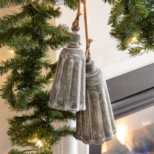 Set of Two Galvanized Holiday Bells