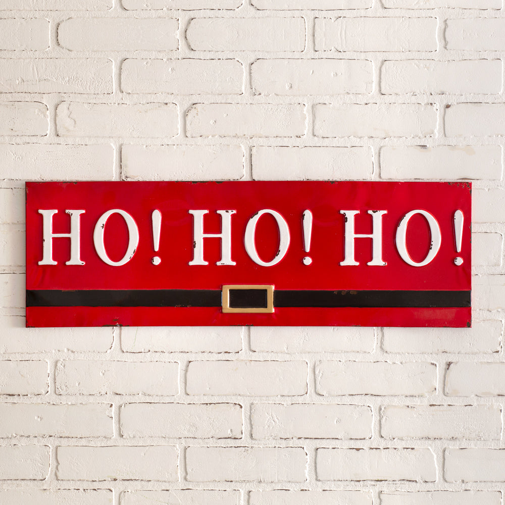 Ho Ho Ho Metal Wall Sign