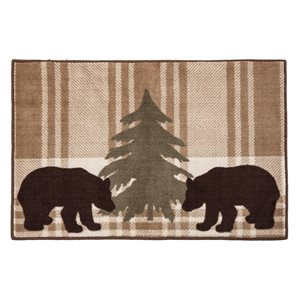 Bear Plaid Rug