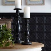 Black Candle Holders (Set of 2)