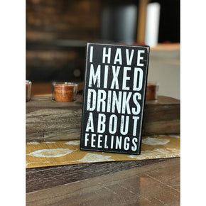 """Mixed Drinks"" Word Sign"