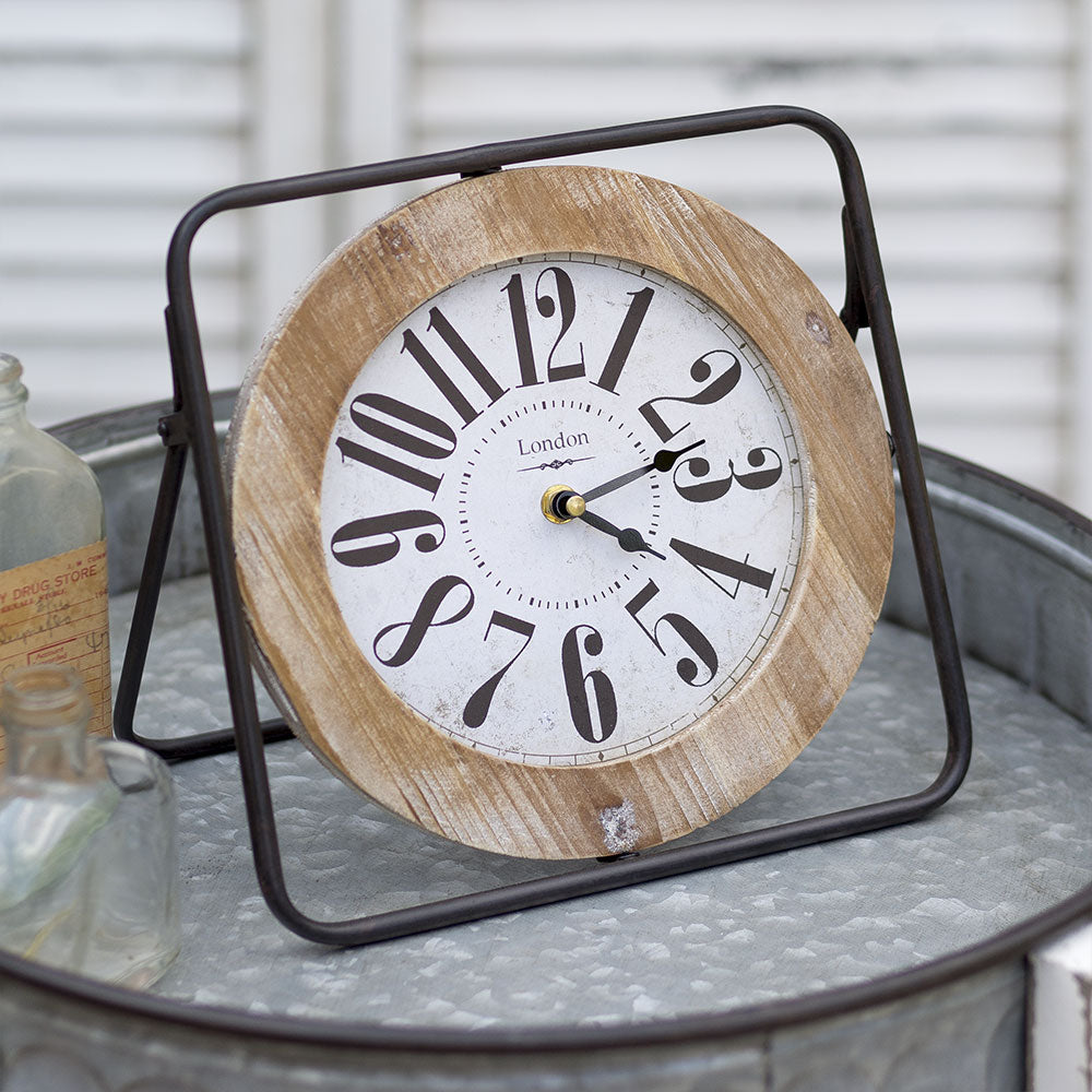 Easel Tabletop Clock