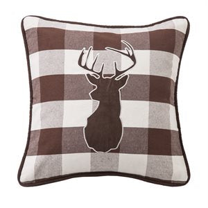 Embroidered Deer Pillow