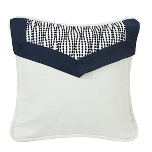 Navy and White Accent Pillow