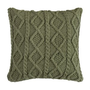 Sage Green Cable Knit Pillow
