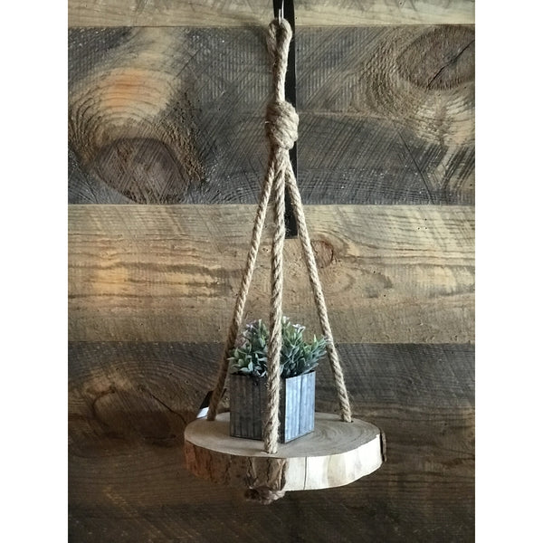 "10"" Hanging Wood Slice"