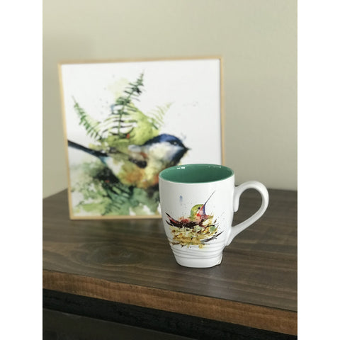 Hummingbird in Nest Mug