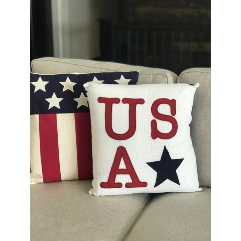 Modern American Flag Pillow