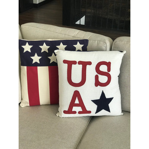 USA Applique Pillow