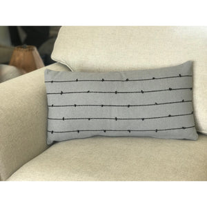 Gray and Black Lumbar Pillow