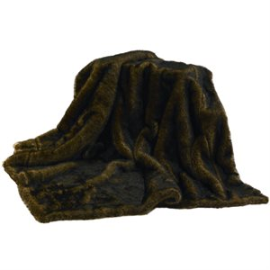 Brown Faux Mink Throw