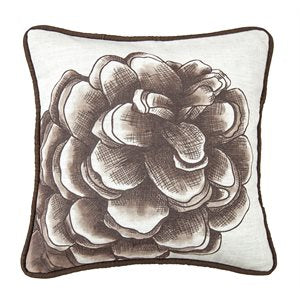 Elegant Pine Cone Pillow