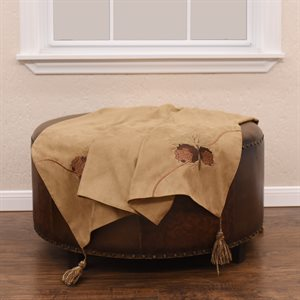 Tan Pine Cone Throw