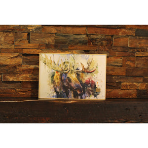 Marsh Bull Moose Art