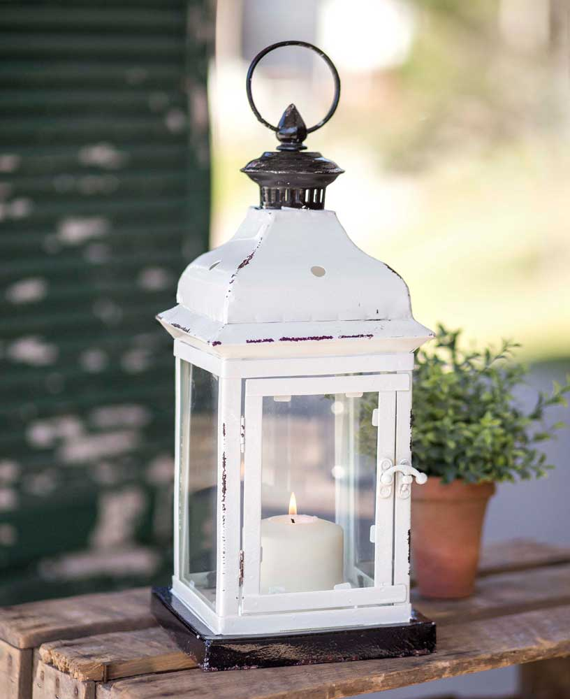White Cottage Lantern