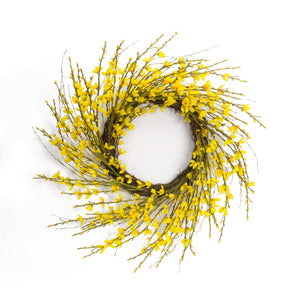 Forsythia and Twig Wreath