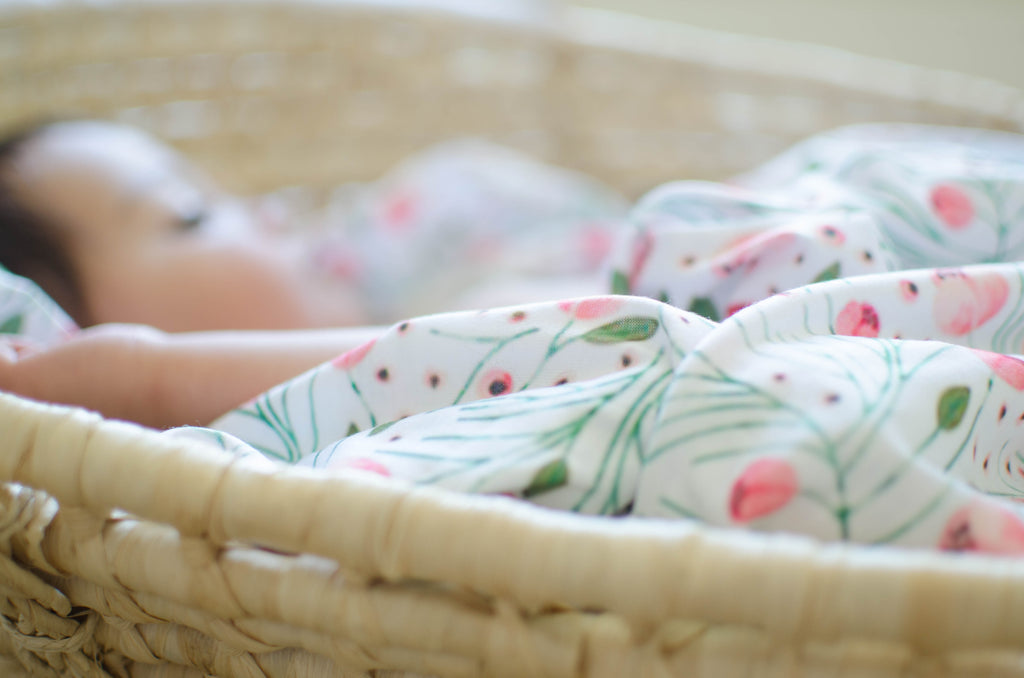 Everly Watercolor Floral Original Swaddle Blanket
