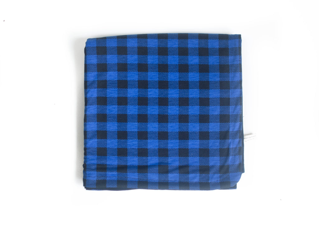 Blue Check Original Swaddle Blanket