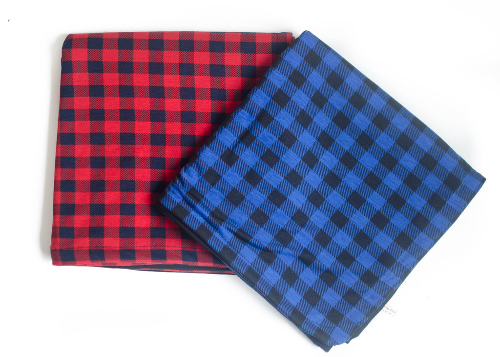 Double Sided Red Check Swaddle Blanket