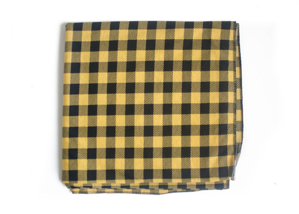Yellow Check Original Swaddle Blanket