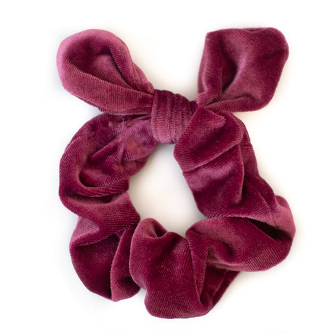 Raspberry Velvet Scrunchie