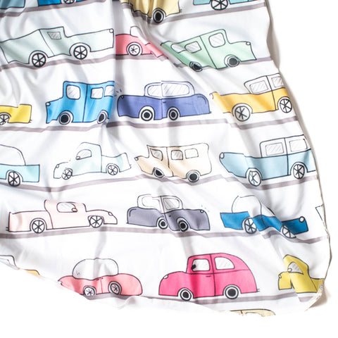 Vintage Car Original Swaddle Blanket