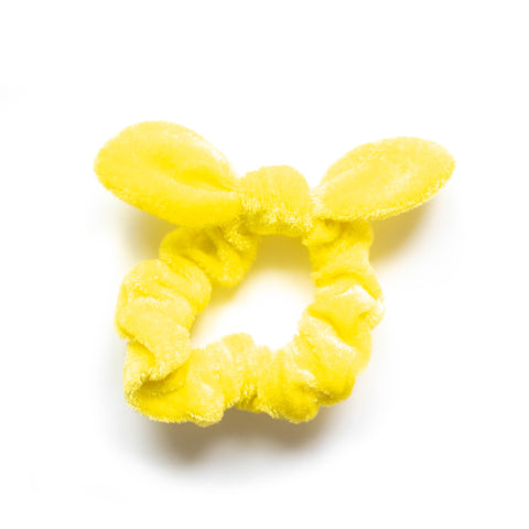 Velvet Scrunchie - Yellow