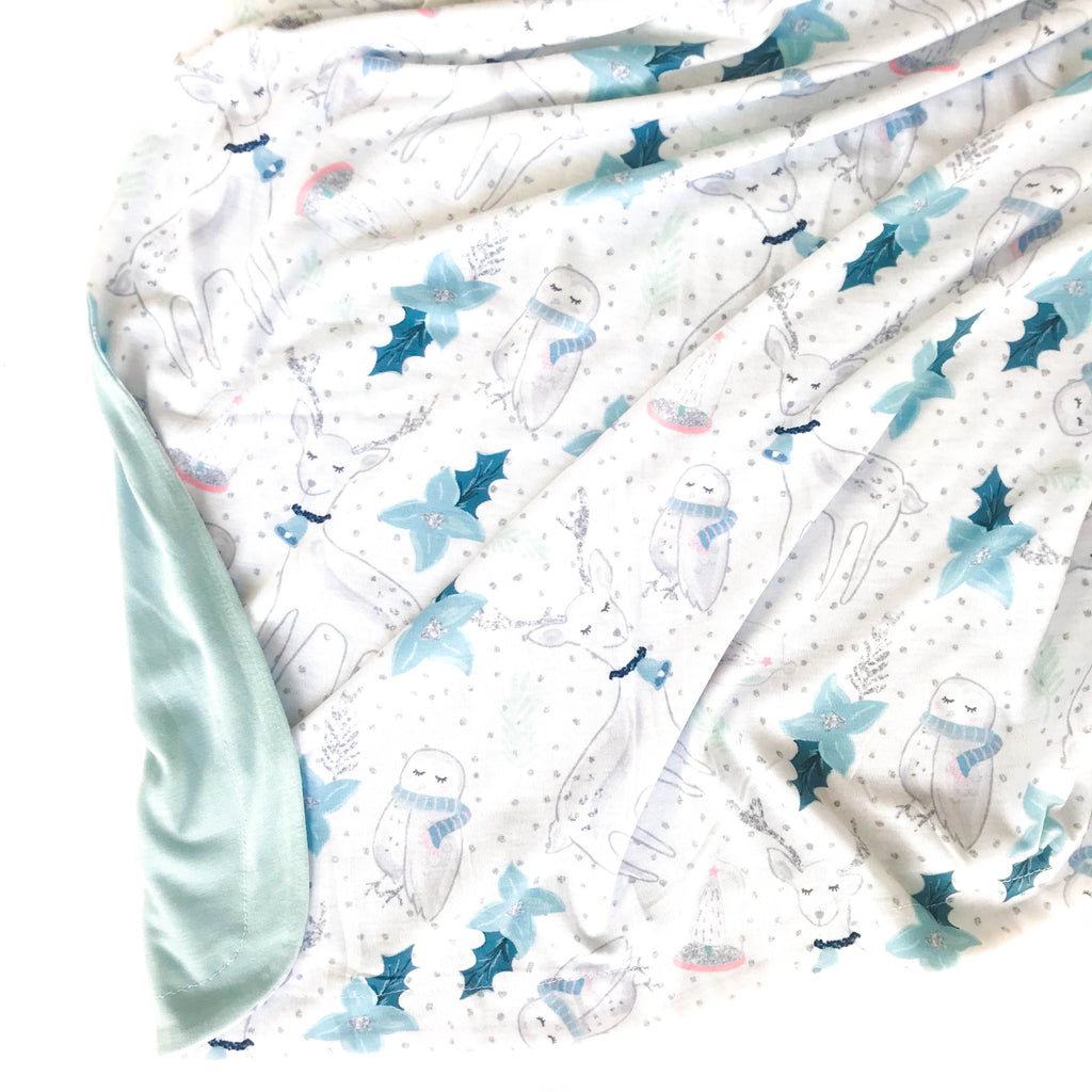 Double Sided Swaddle Blanket - Winter Wonderland