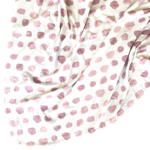 Double Sided Swaddle Blanket - Dusty Rose Watercolor Confetti