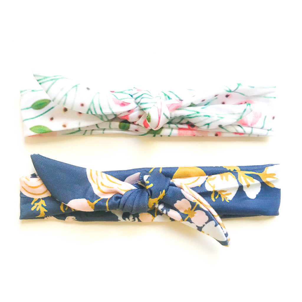 Everly Watercolor Floral Headband - Large