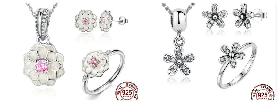 Flower jewellery, rings, bracelets,necklaces,earrings and sets