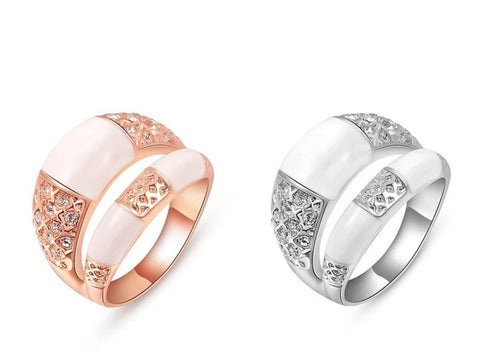 Rose gold ring|silver ring