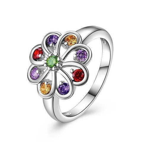 crystal daisy ring