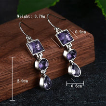 Load image into Gallery viewer, Antique amethyst earrings