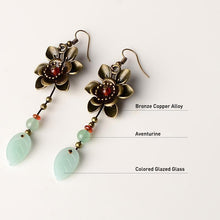 Load image into Gallery viewer, Antique ethnic flower earrings