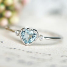 Load image into Gallery viewer, Blue sky heart ring