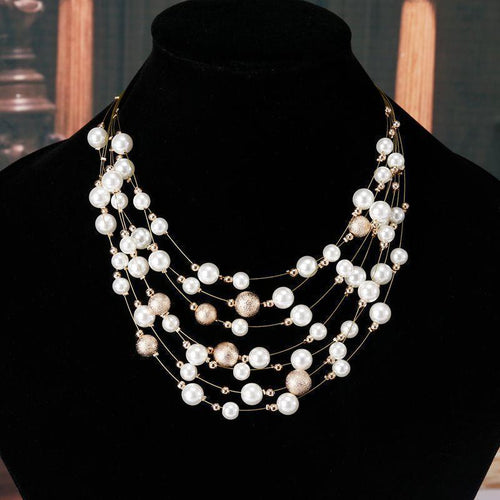 Charming pearls multi layer necklace Trendystrike