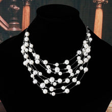 Load image into Gallery viewer, Charming pearls multi layer necklace