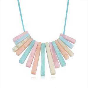 Colourful bricks necklace