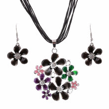 Load image into Gallery viewer, Colourful daisy jewellery set - colours