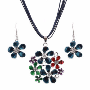 Colourful daisy jewellery set - colours